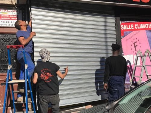 déblocage rideau métallique à Paris