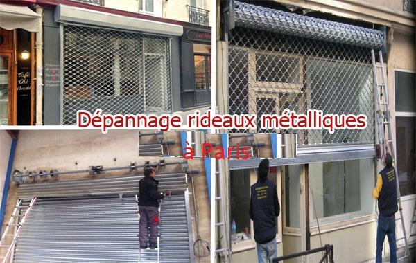 depannage rideau métallique Paris 75