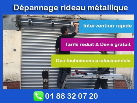 depannage rideau metallique paris