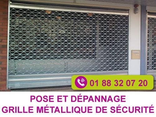 dépannage grille métallique de sécurité