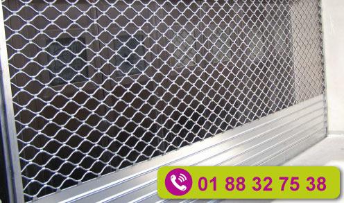 Réparation rideau métallique à tubes ondulés