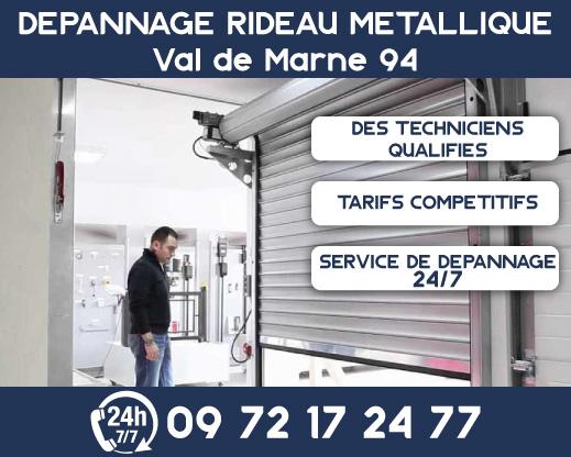 Dépannage rideau métallique Val de Marne 94